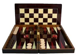 "19"" Yenigun Tavla Luxury Walnut Backgammon"
