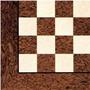 Brown Burl Gloss Chessboard 55mm