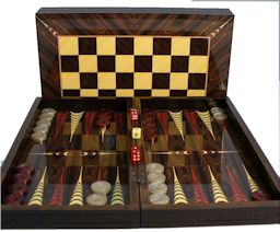 "20"" Yenigun Tavla Luxury Walnut Backgammon"
