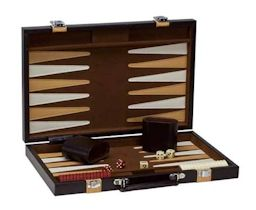 "15"" Brown & Tan Backgammon"