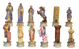 Crusades Hand Painted Resin Chess Pieces